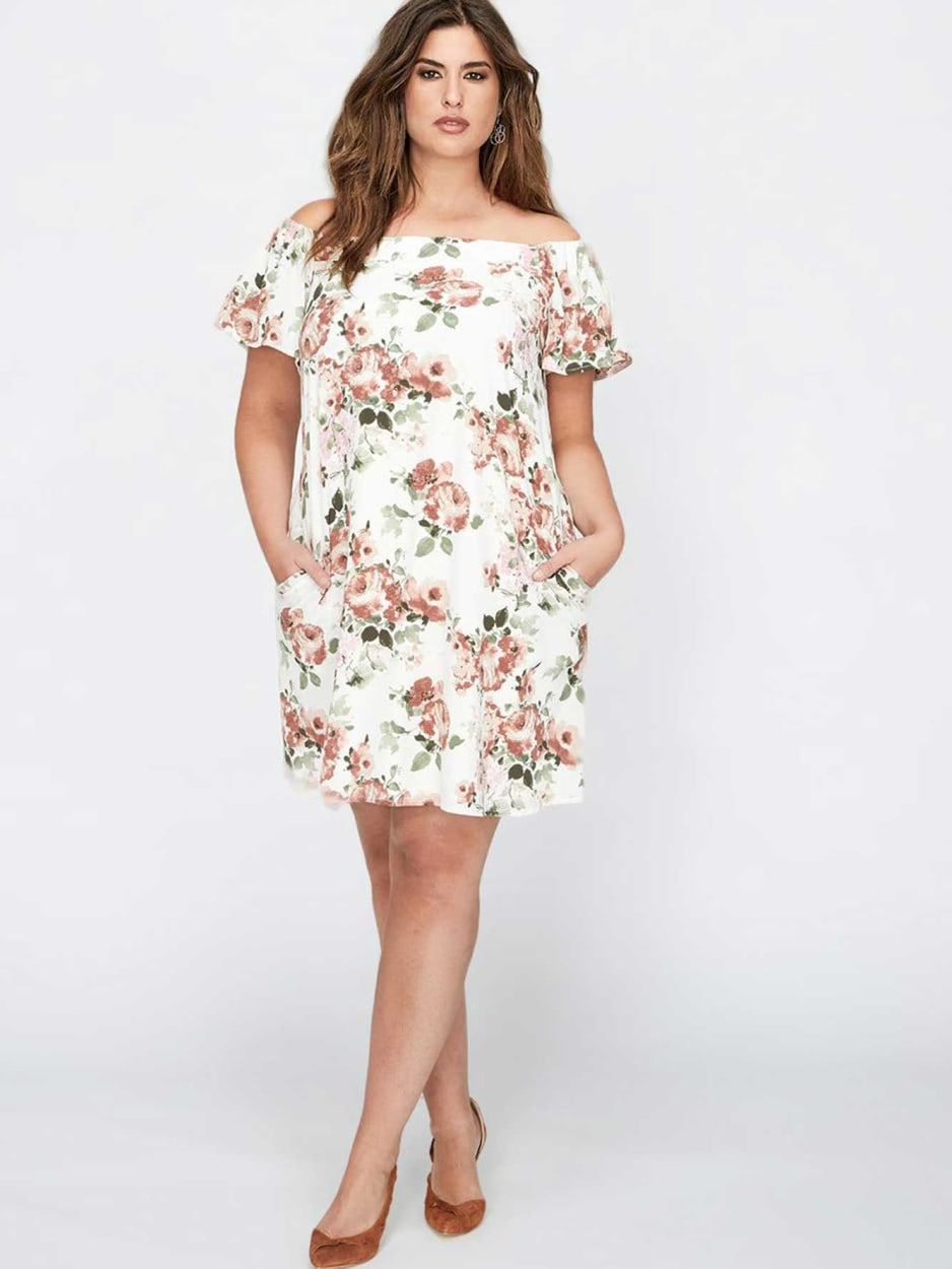 Bardot Floral Flutter Sleeve Dress