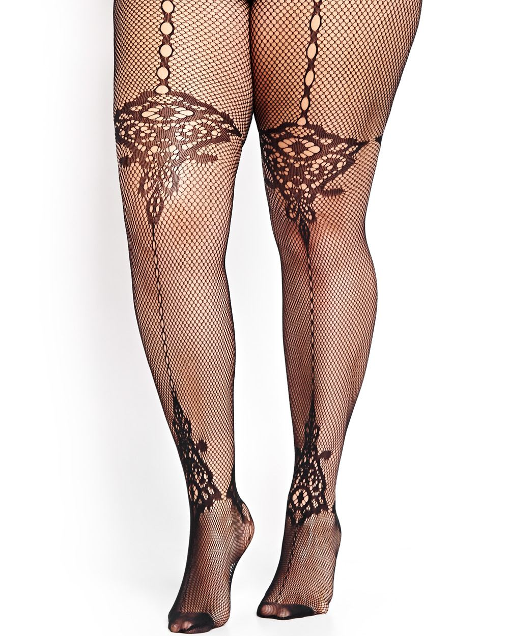 Vertical Line Baroque Tights