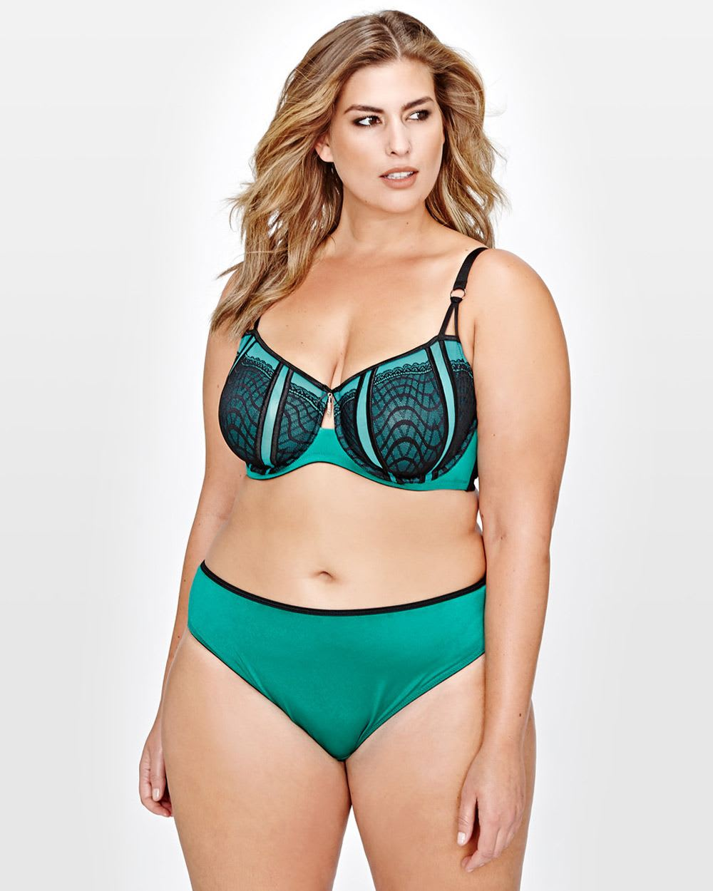 Ashley Graham Fatal Attraction with Contrasting Lace