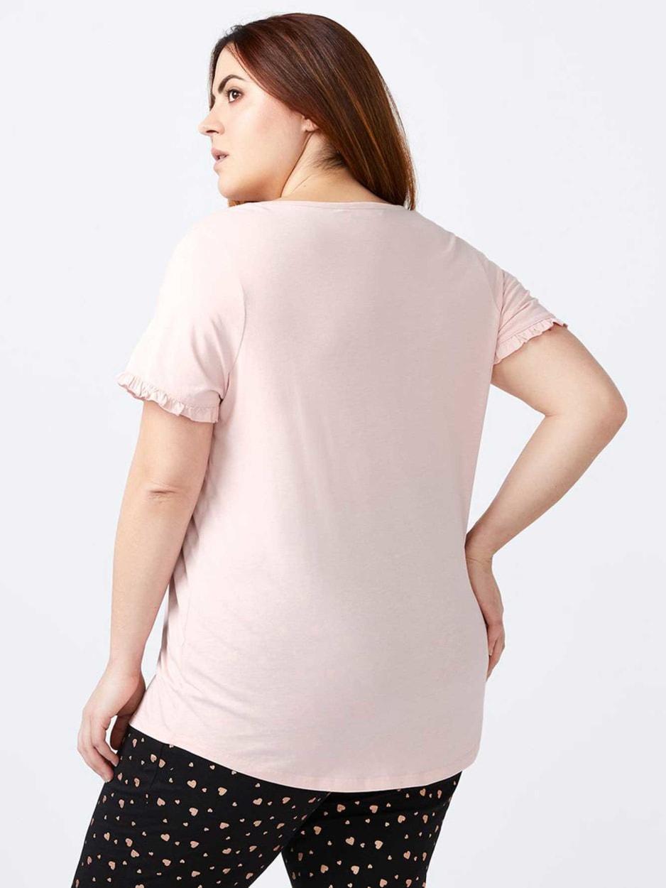 Ti Voglio - Printed V-Neck Cotton PJ Top