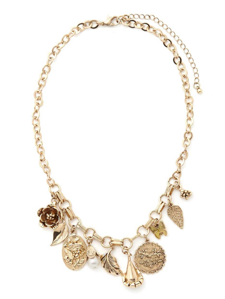 Short Necklace with Charms