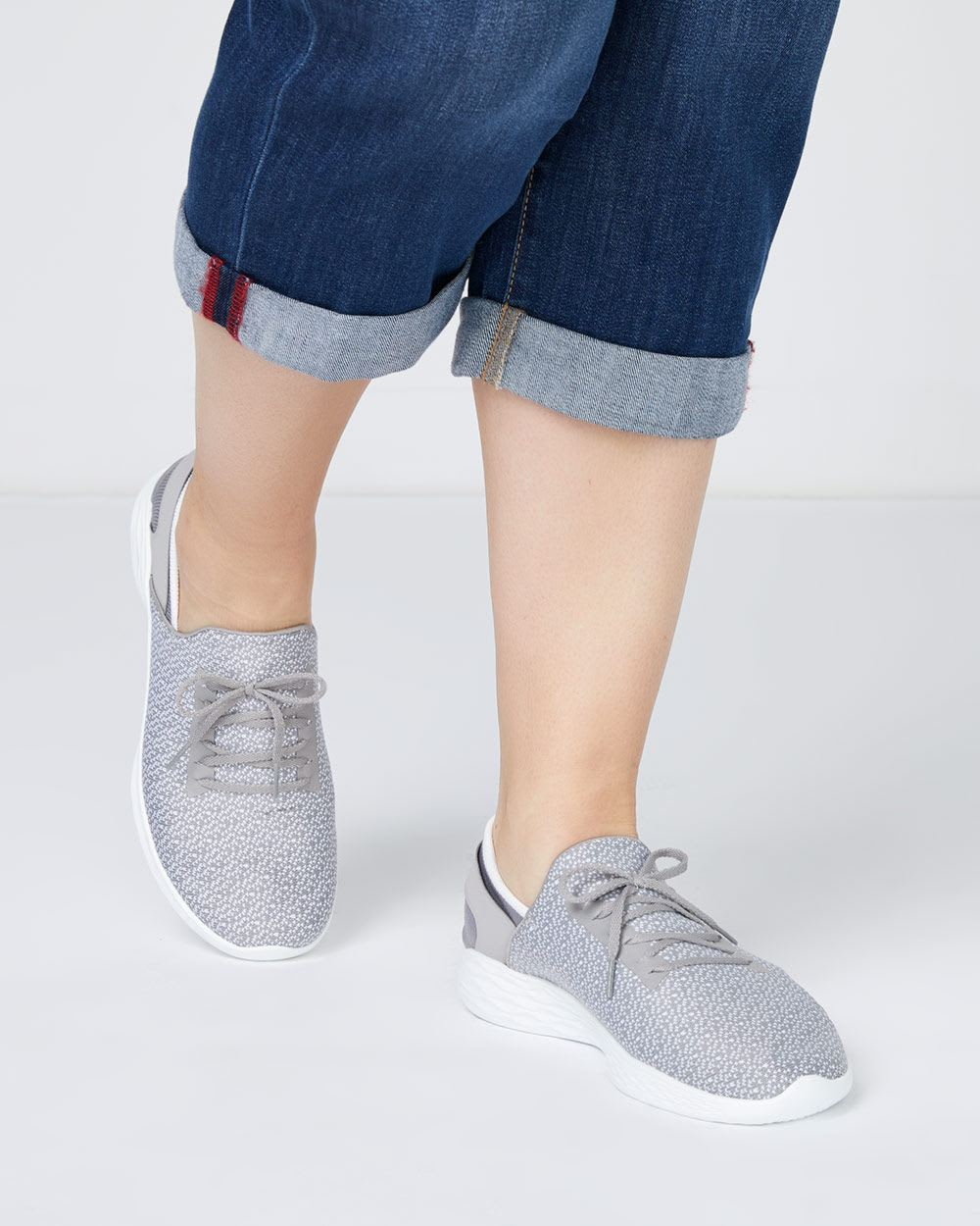 Wide-Width Slip On Shoes with Laces - Skechers