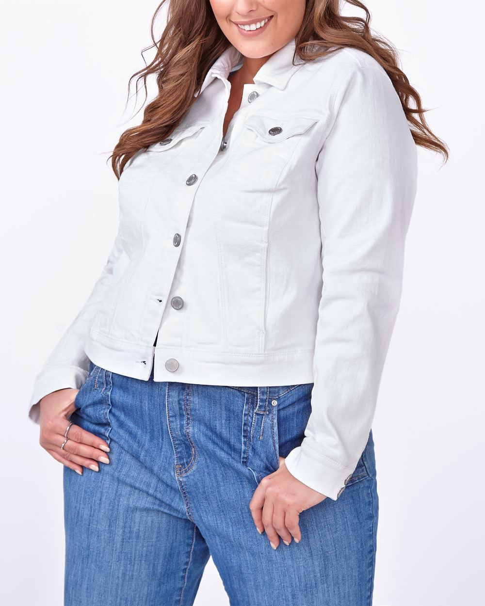 d/c JEANS White Denim Jacket
