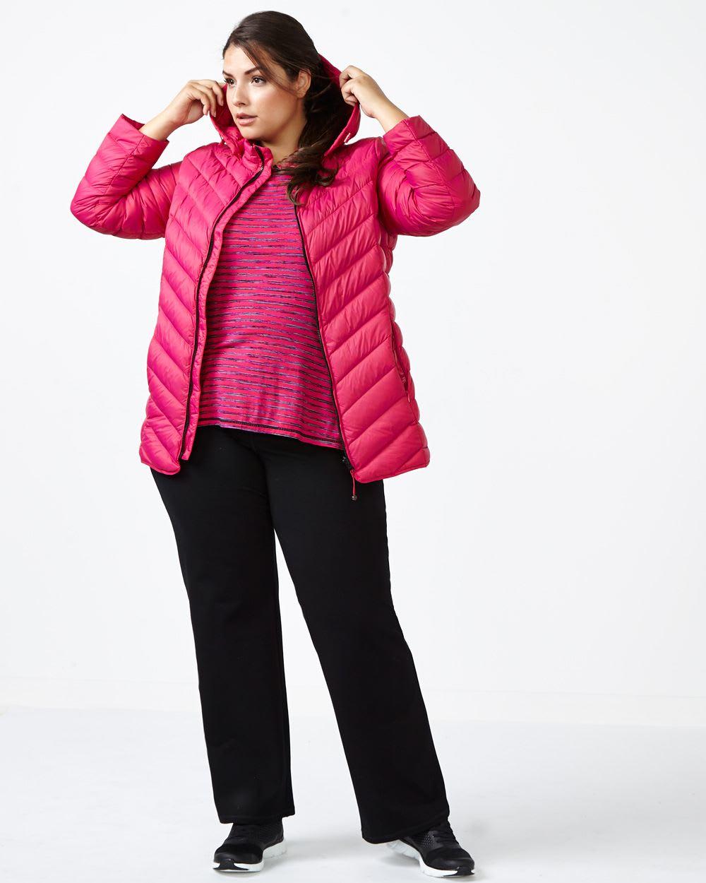 ActiveZone Plus-Size Packable Down Jacket