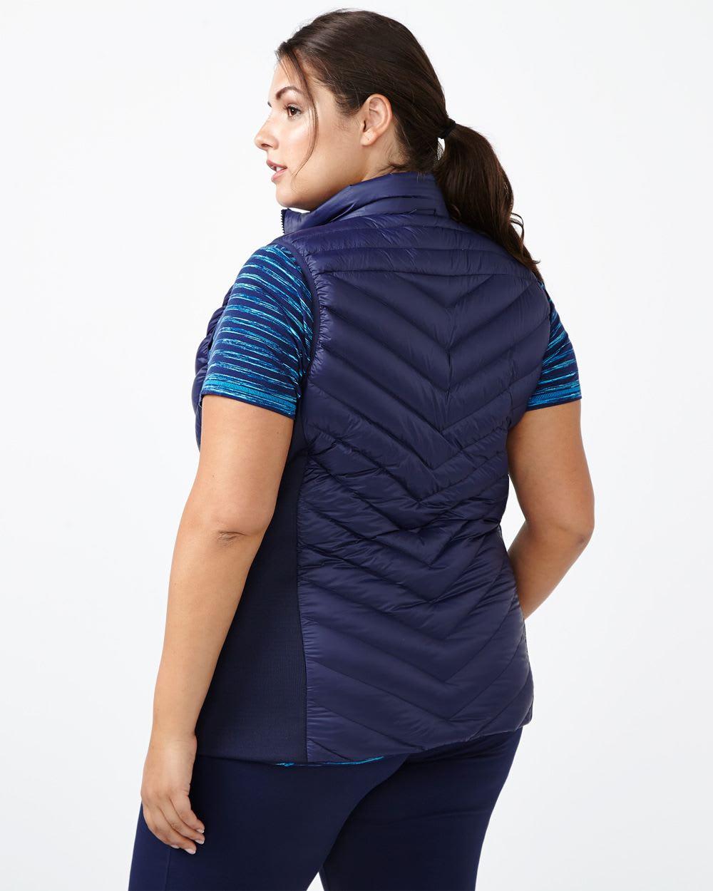 ActiveZone Plus-Size Packable Down Vest