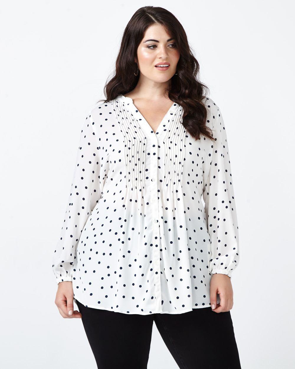 Pintuck blouse pattern labzada blouse melissa mccarthy printed pintuck blouse penningtons melissa mccarthy printed pintuck blouse source sewing pattern jeuxipadfo Image collections