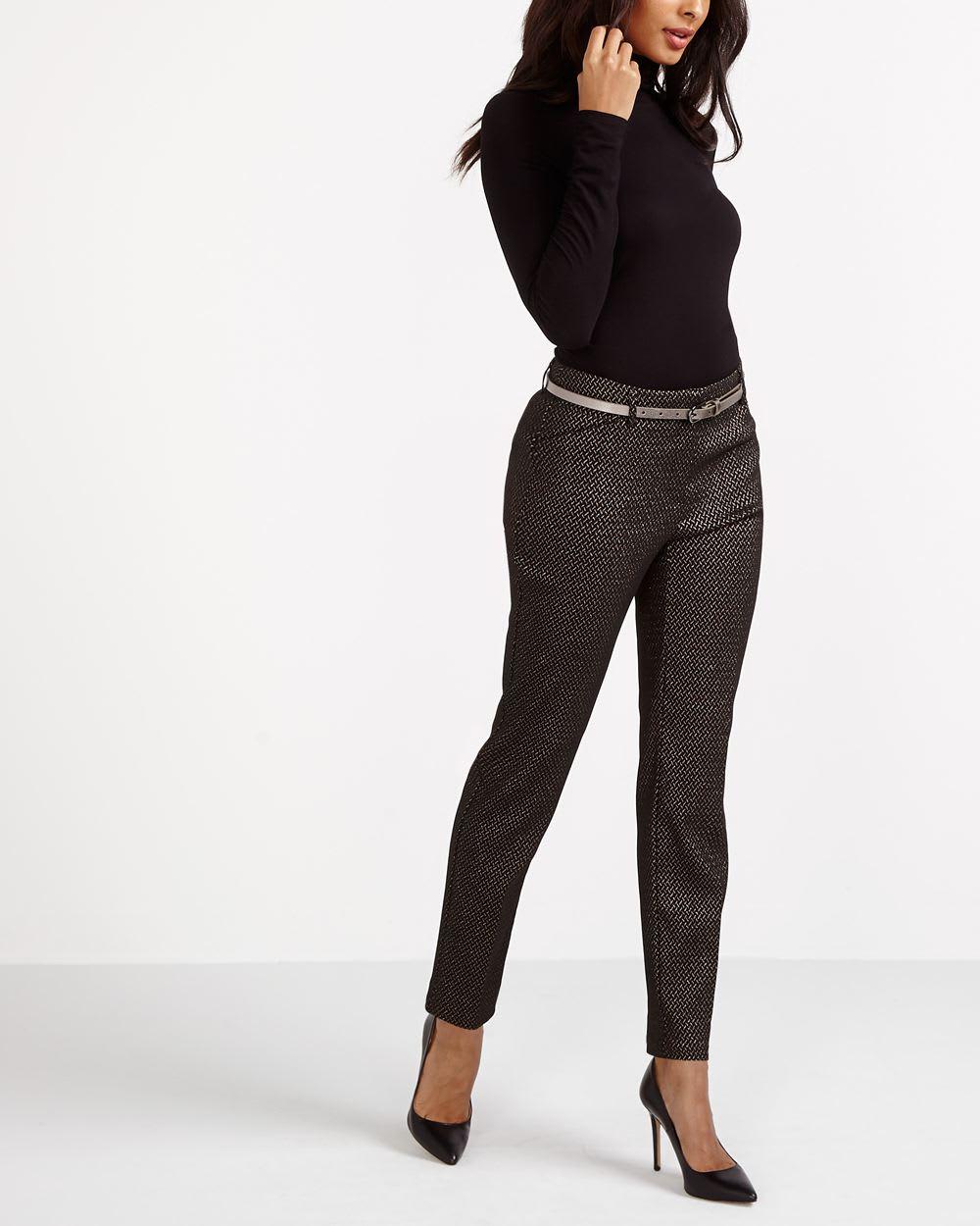 Metallic Skinny Pants