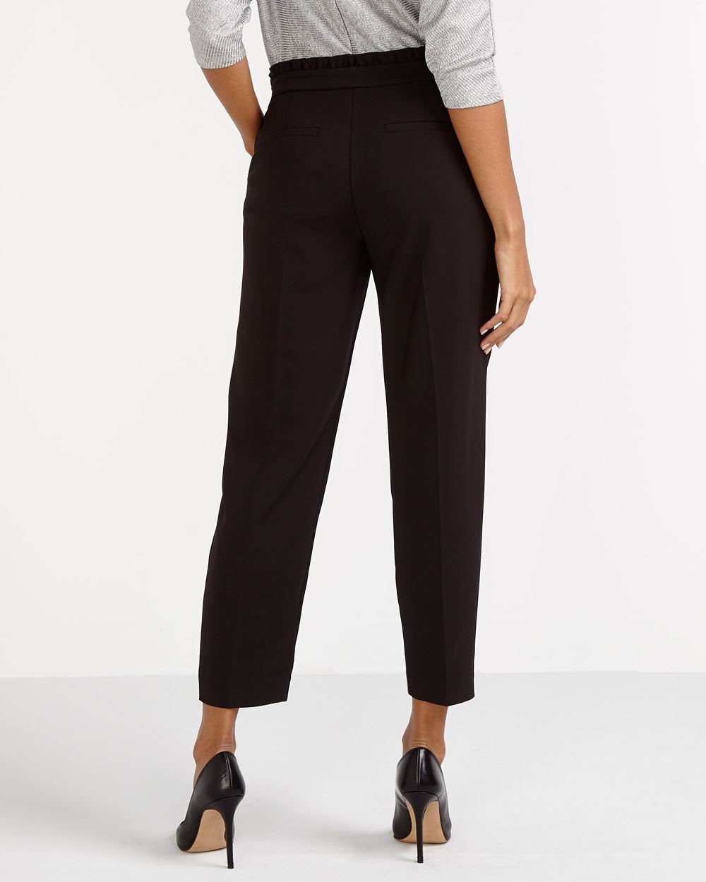 Paper Bag Waist Ankle Pants