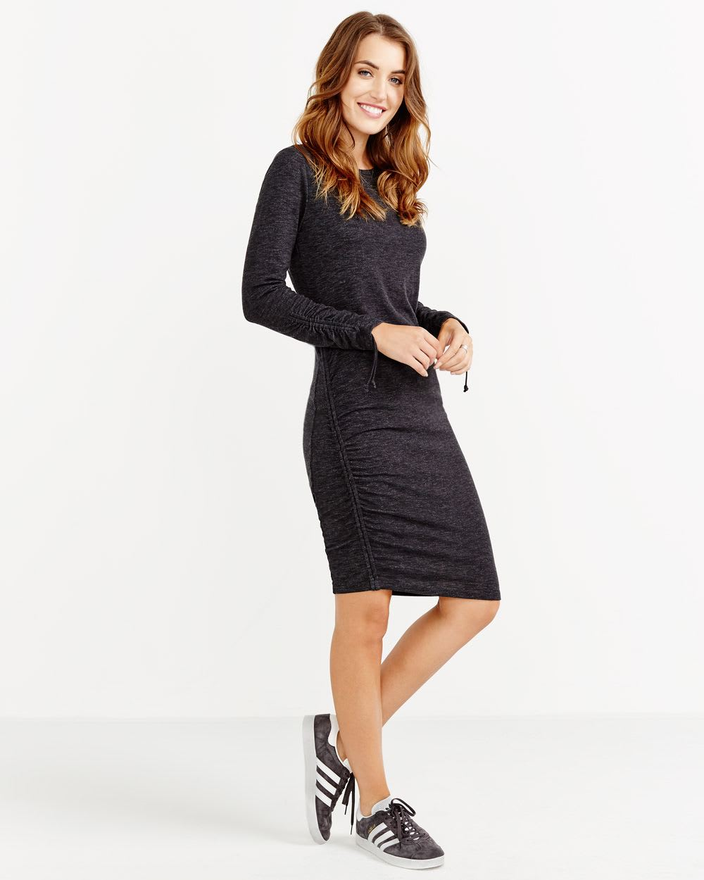 Ruched Space Dye Dress