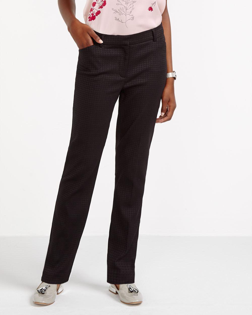 Pantalon skinny à motif losange Long