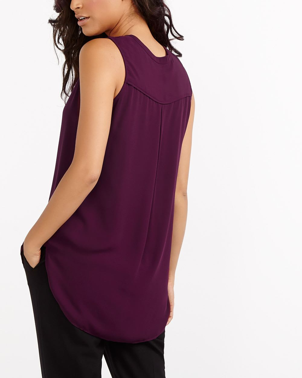 Sleeveless Solid Blouse