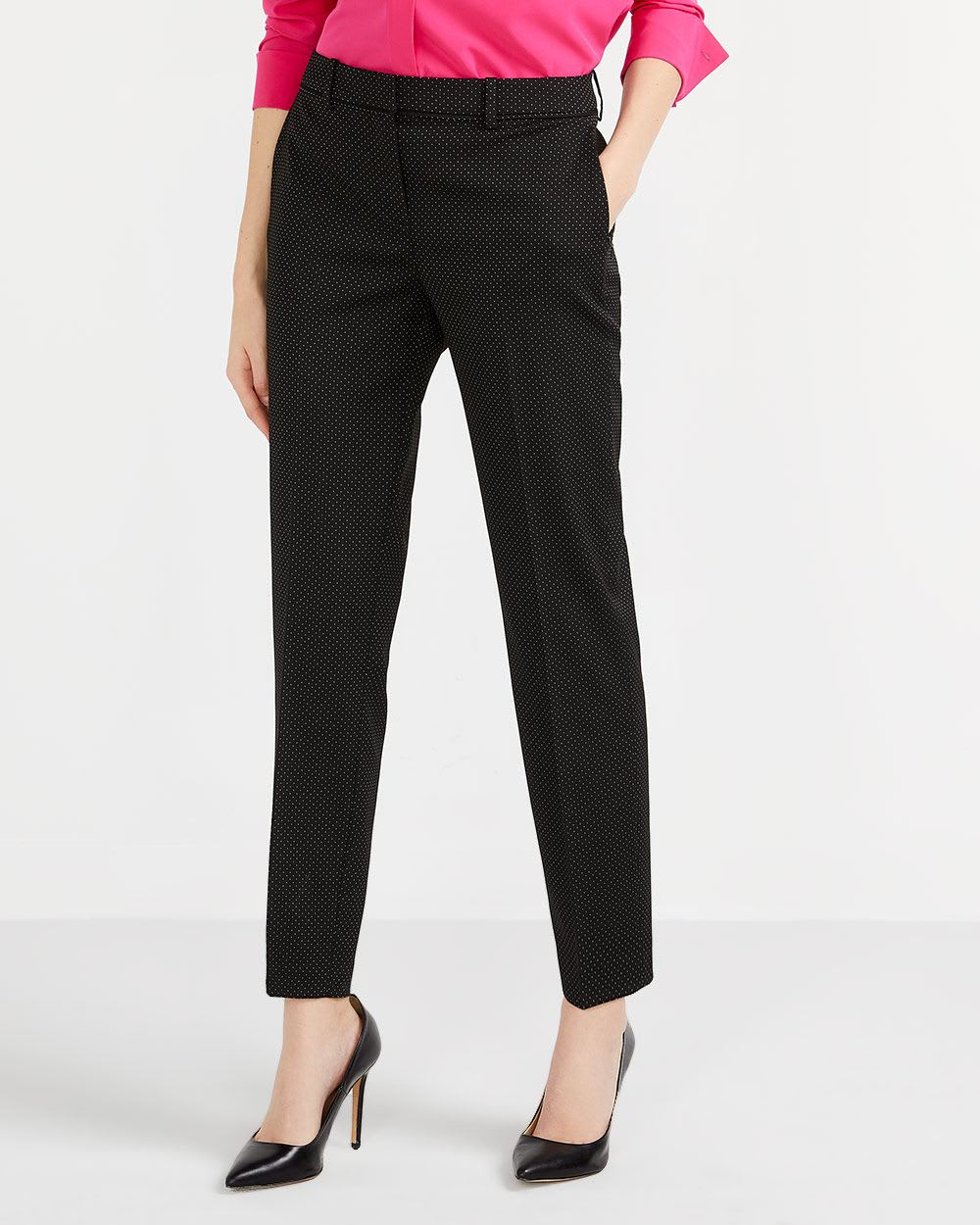 Willow & Thread Polka Dot Tailored Pants