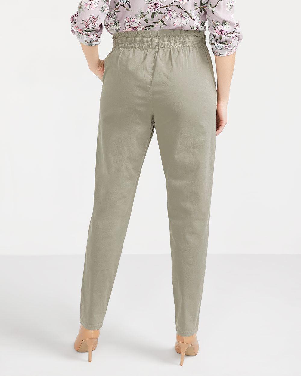 Pantalon à taille froncée skinny