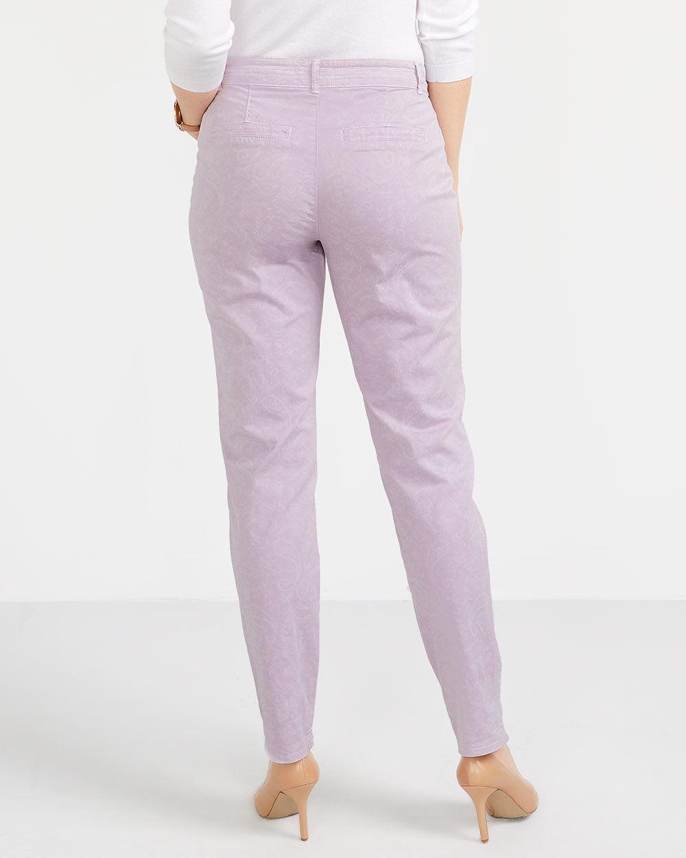 Pantalon Chino à imprimé au laser Petite