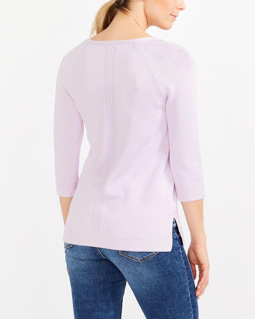 ¾ Raglan Sleeve Sweater