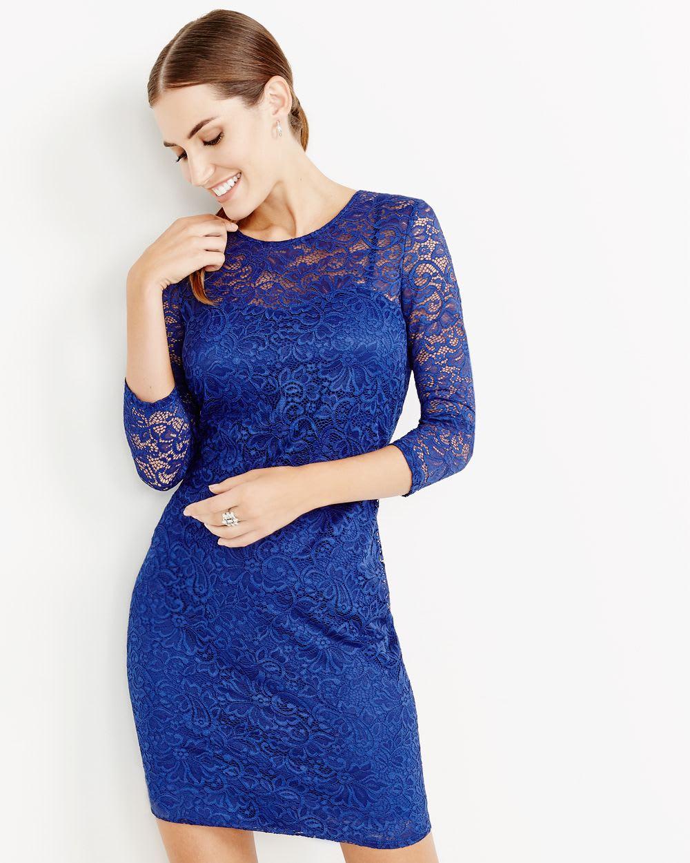 ¾ Sleeve Bodycon Dress