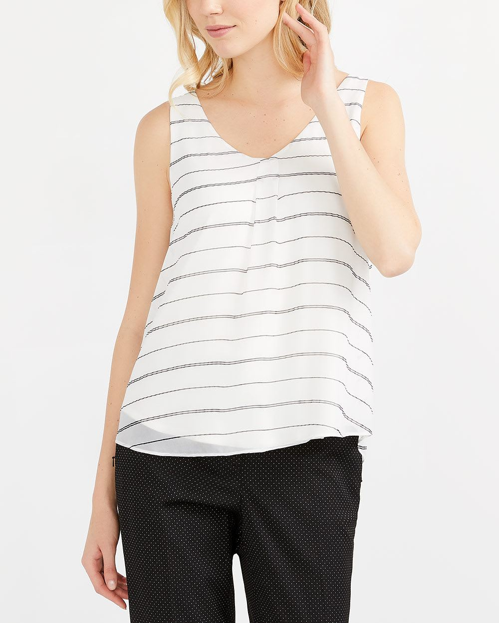 Willow & Thread Pleated Neck Printed Cami