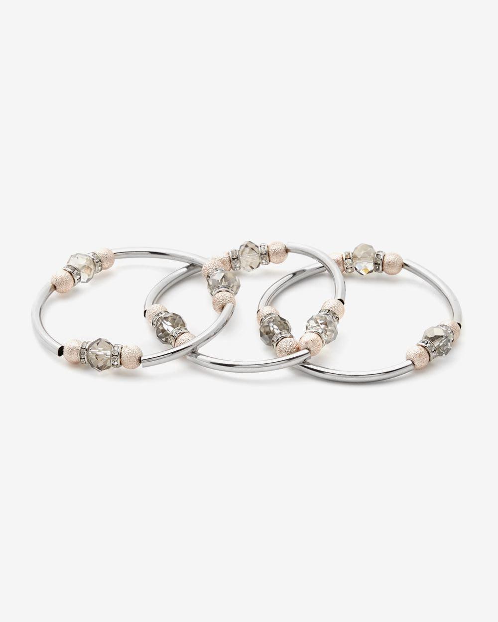 Ensemble de 3 bracelets ton sur ton
