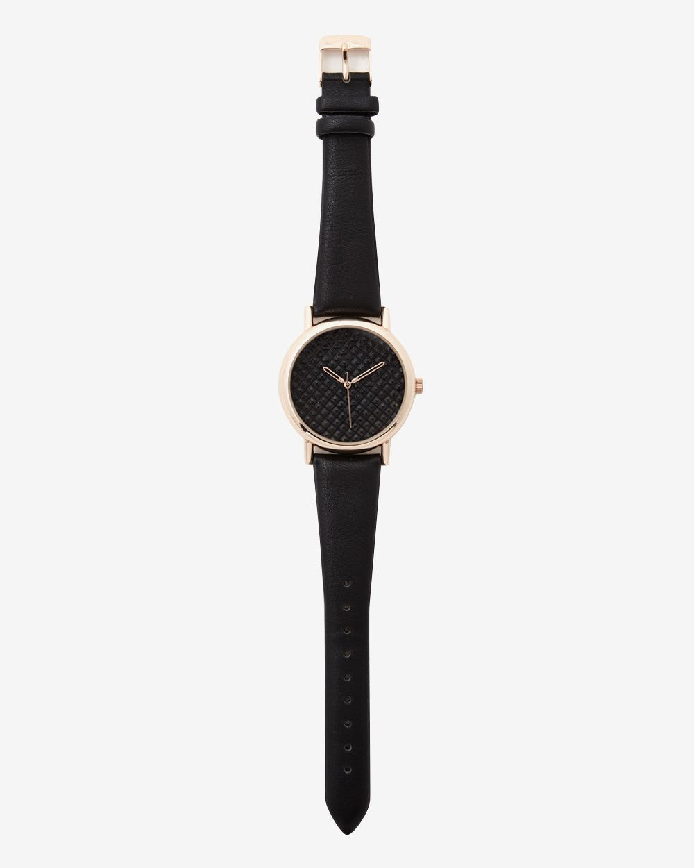 Gold and Black Wristwatch