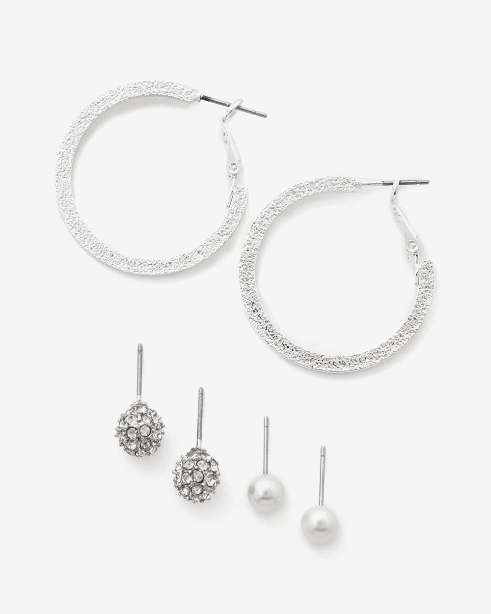 3-Pair Set of Earrings