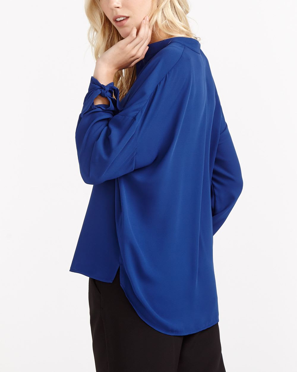 Willow & Thread Knot Cuff Solid Shirt