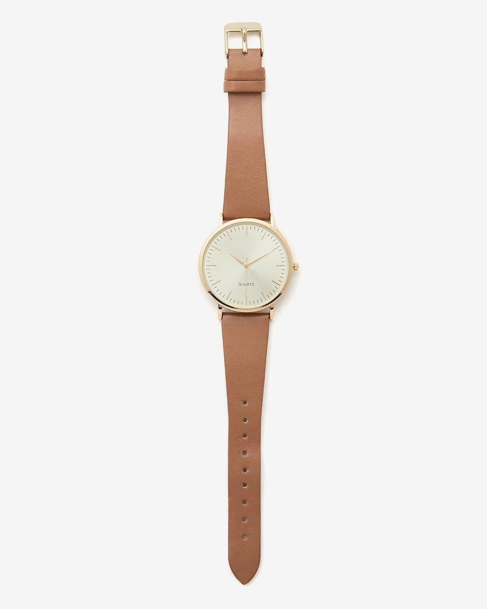 Classic Golden Wristwatch