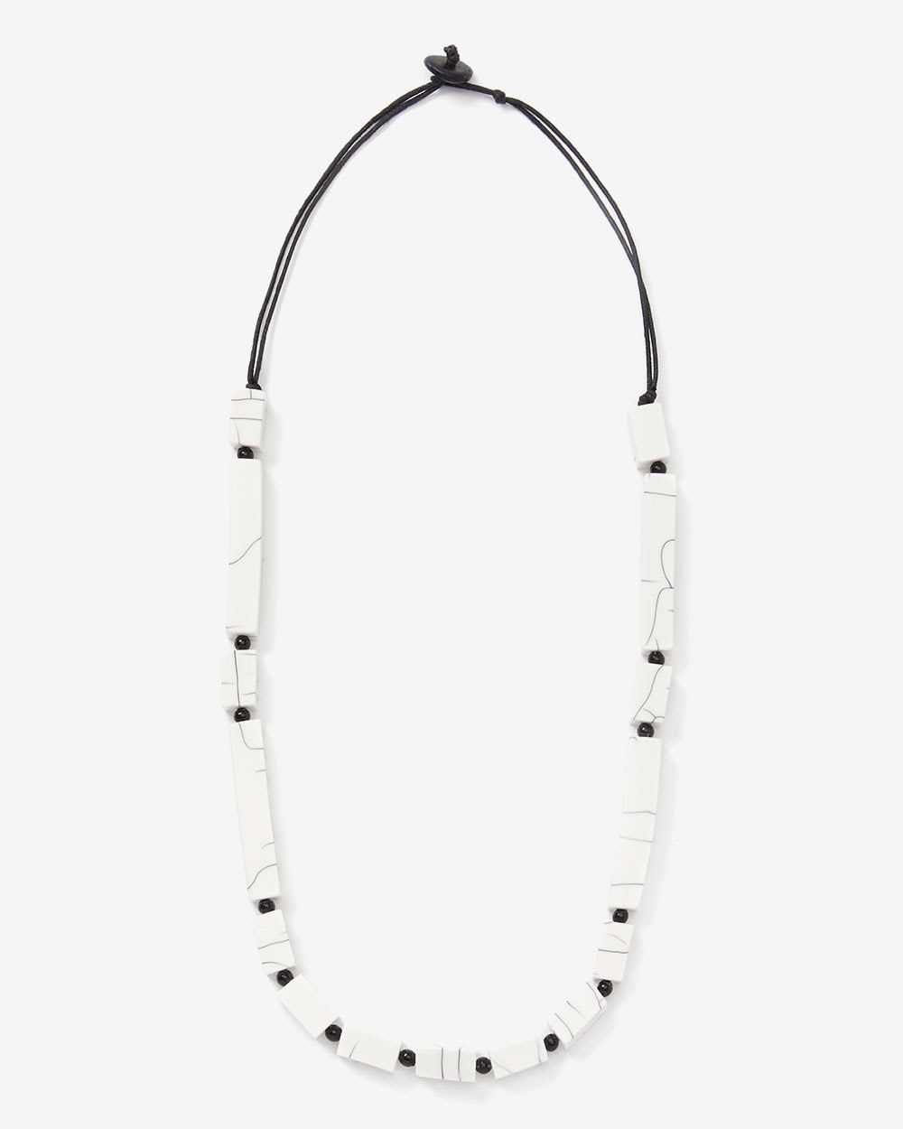Willow & Thread Marble Bead Necklace