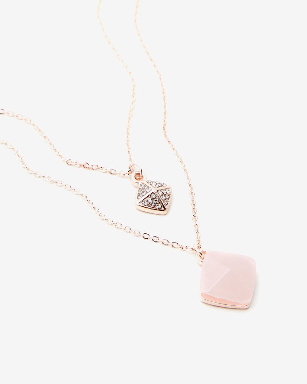 Matching Pendant 2-Layer Necklace