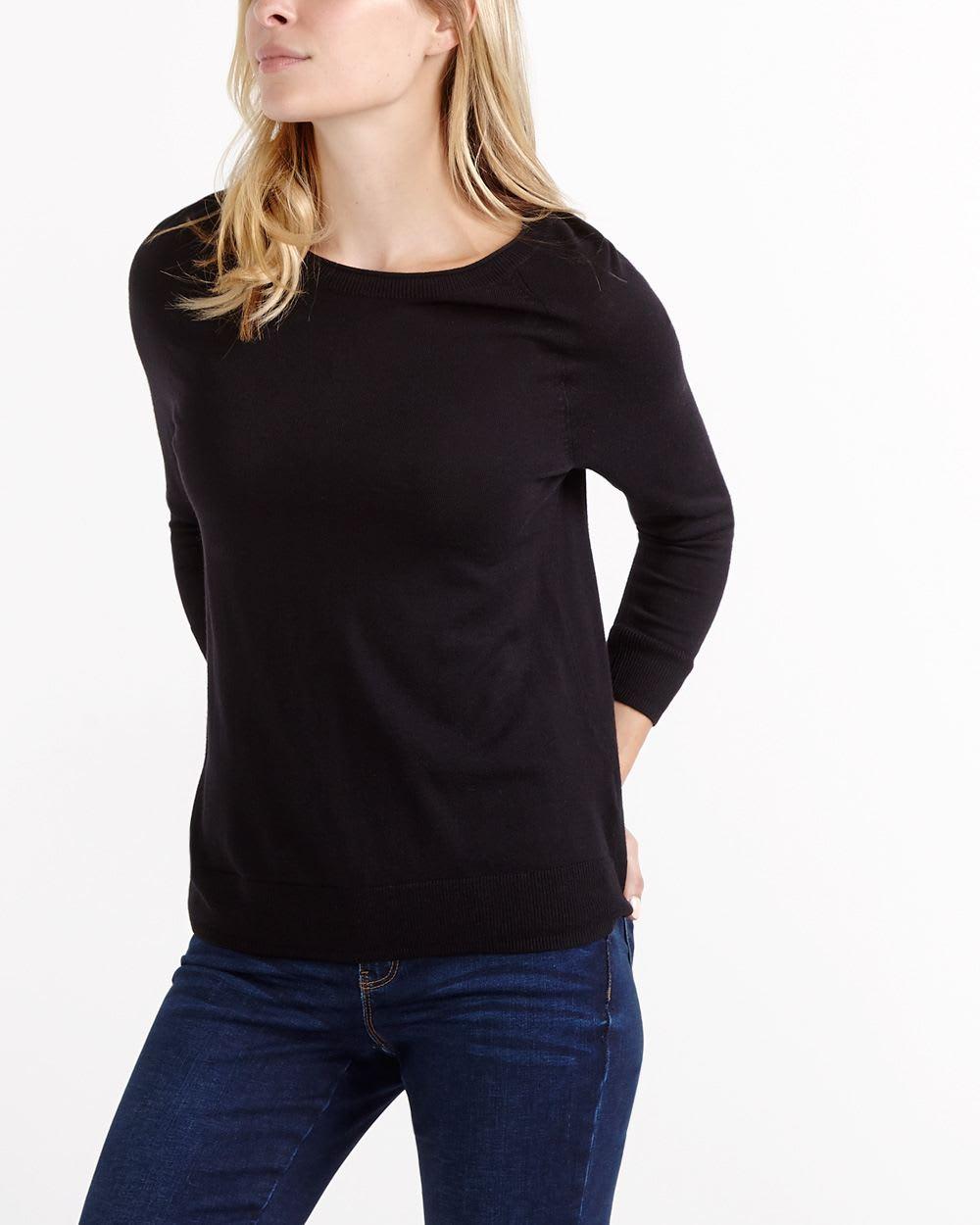 R Essentials ¾ Sleeve Sweater