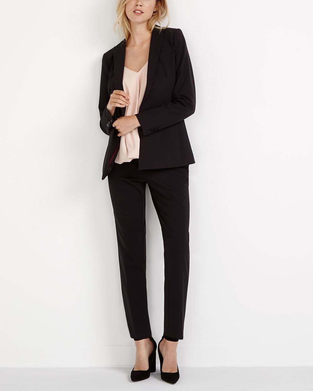 Willow & Thread Slim Solid Pants