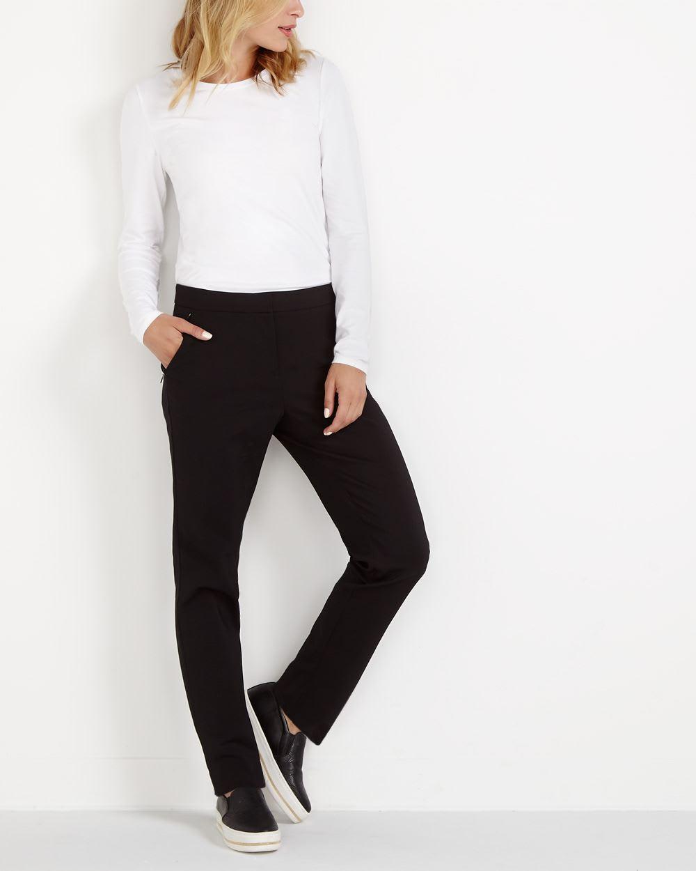 Petite Zip Pocket Skinny Pants