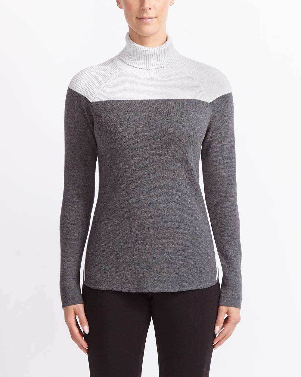 Chandail en tricot à blocs de couleurs Hyba