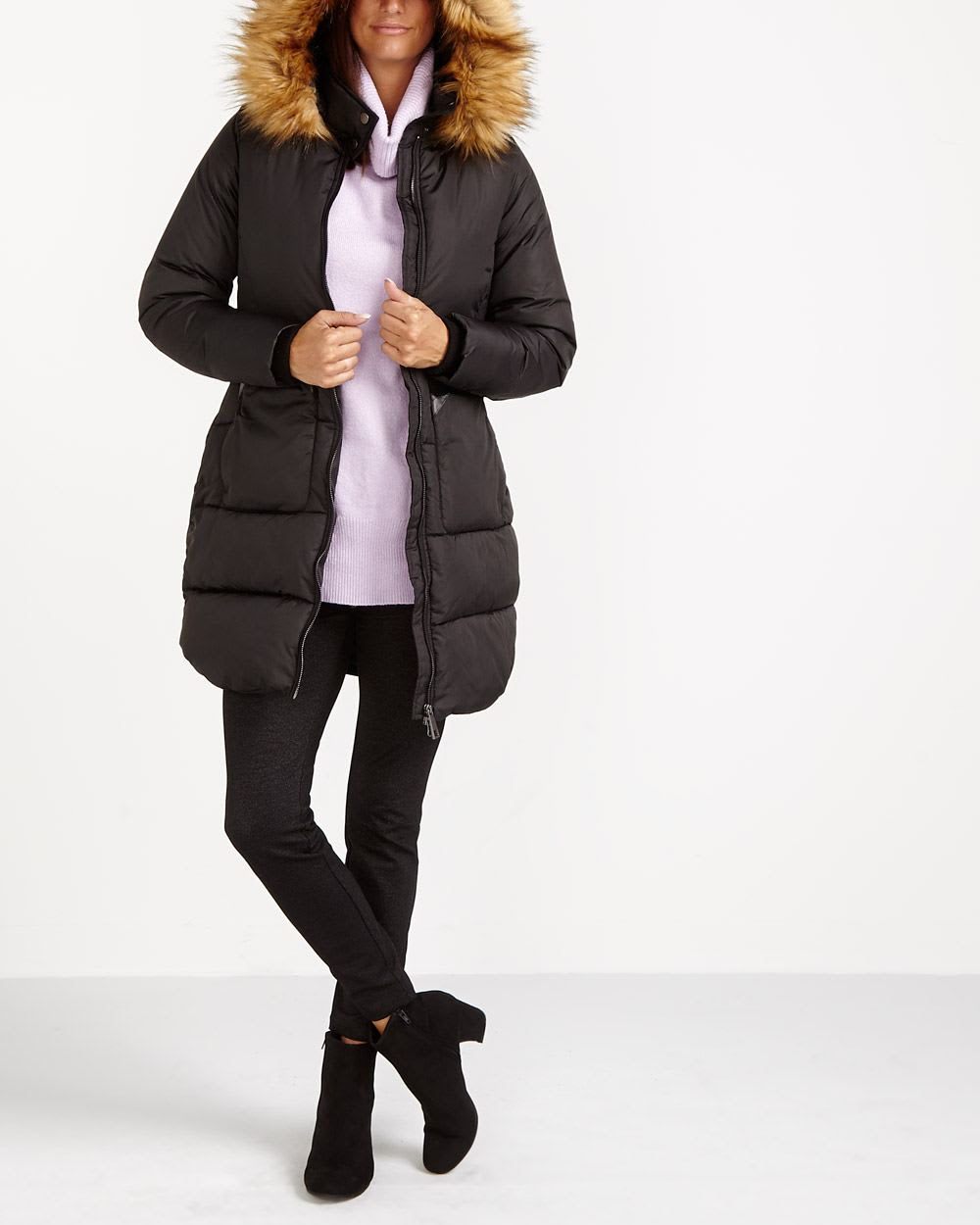 Quilted Long Parka