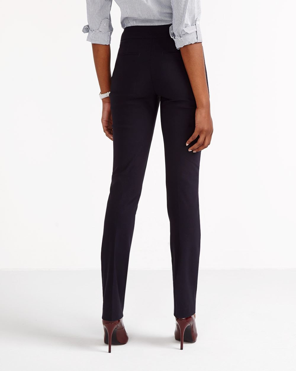 The Tall Iconic Straight Leg Solid Pants