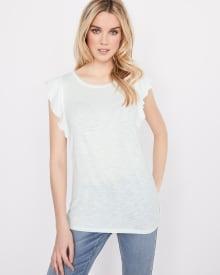T-shirt à manches à volants