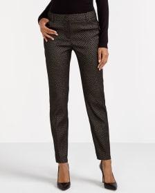 Pantalon skinny à effet métallique