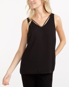 V-Neck Detail Dew Drop Cami
