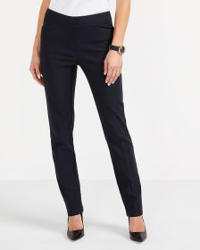 The Petite Iconic Straight Leg Herringbone Pants