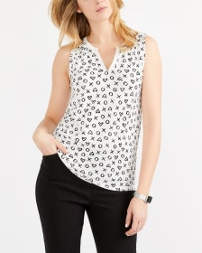 Printed Notch Neck Tank