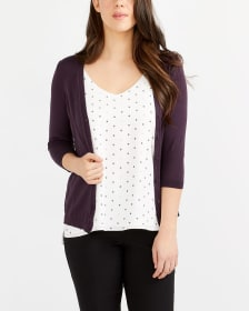 R Essentials ¾ Sleeve Effortless Cardi