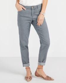 Pantalon Chino à chevrons Long