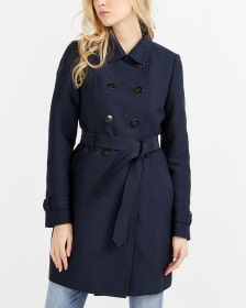 Water Repellent Lined Trench Coat