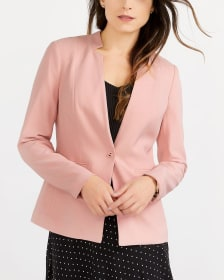 Button Solid Blazer