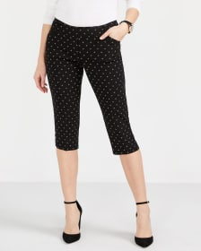 The Petite Iconic Printed Capri Pants