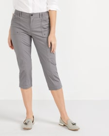 Pocket Solid Capris