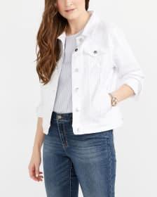 Veste en jeans blanche