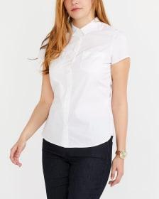 R Essentials Solid Crisp Shirt