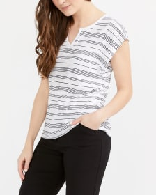 Flutter Sleeve Printed T-Shirt