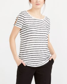 T-shirt imprimé à manches avec fente