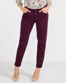 Pantalon Chino à jambe étroite Long